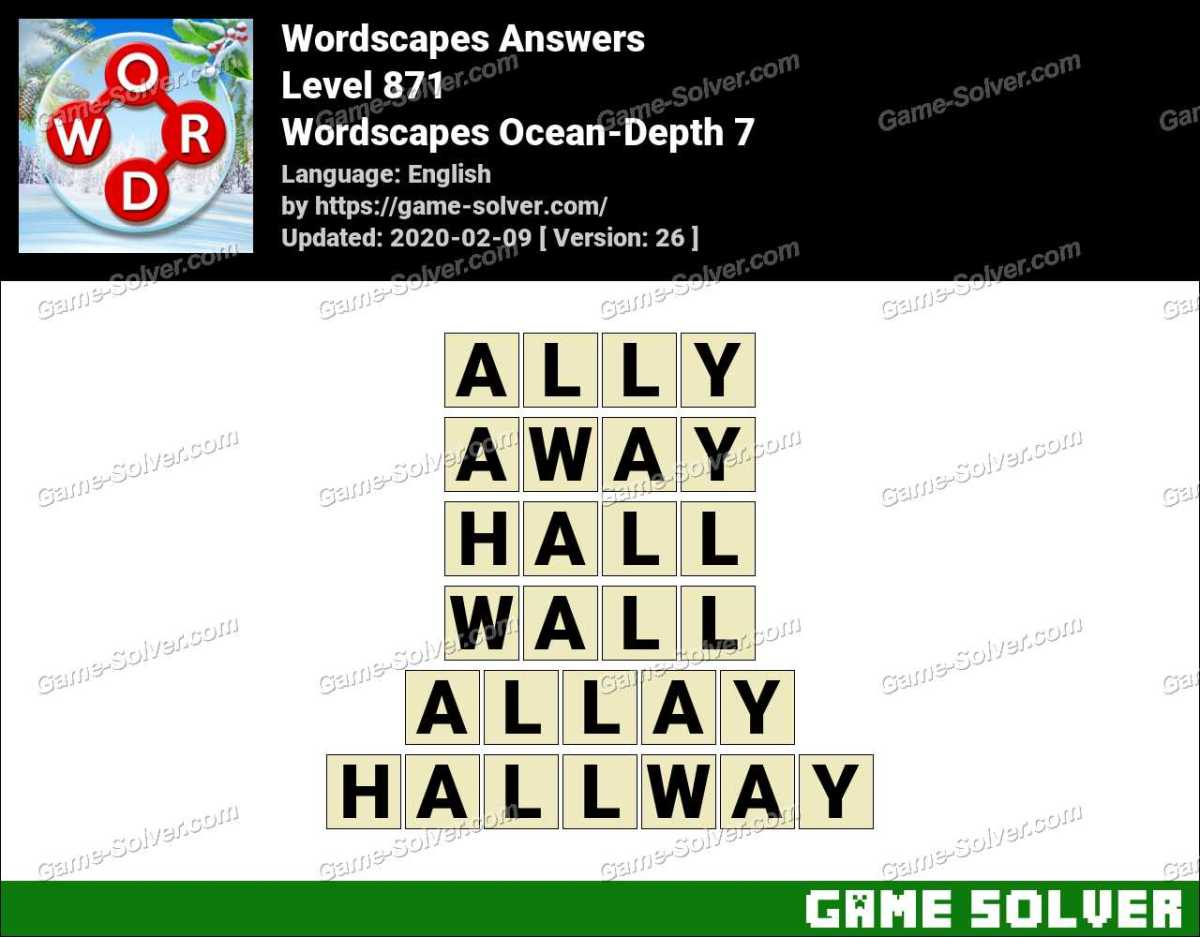 Wordscapes Ocean-Depth 7 Answers