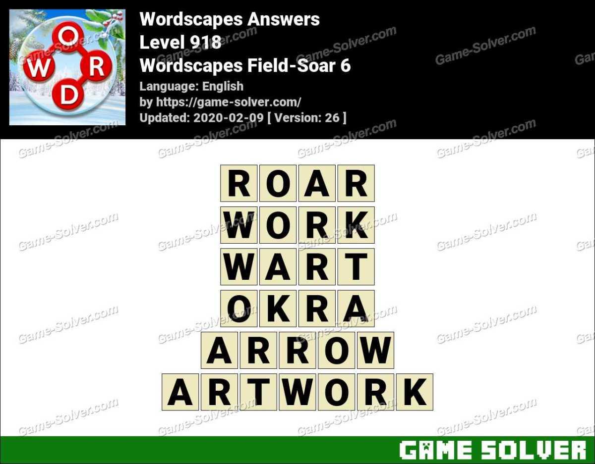 Wordscapes Field-Soar 6 Answers