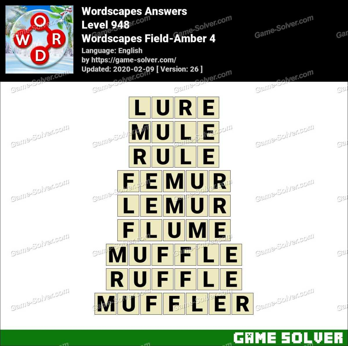 Wordscapes Field-Amber 4 Answers