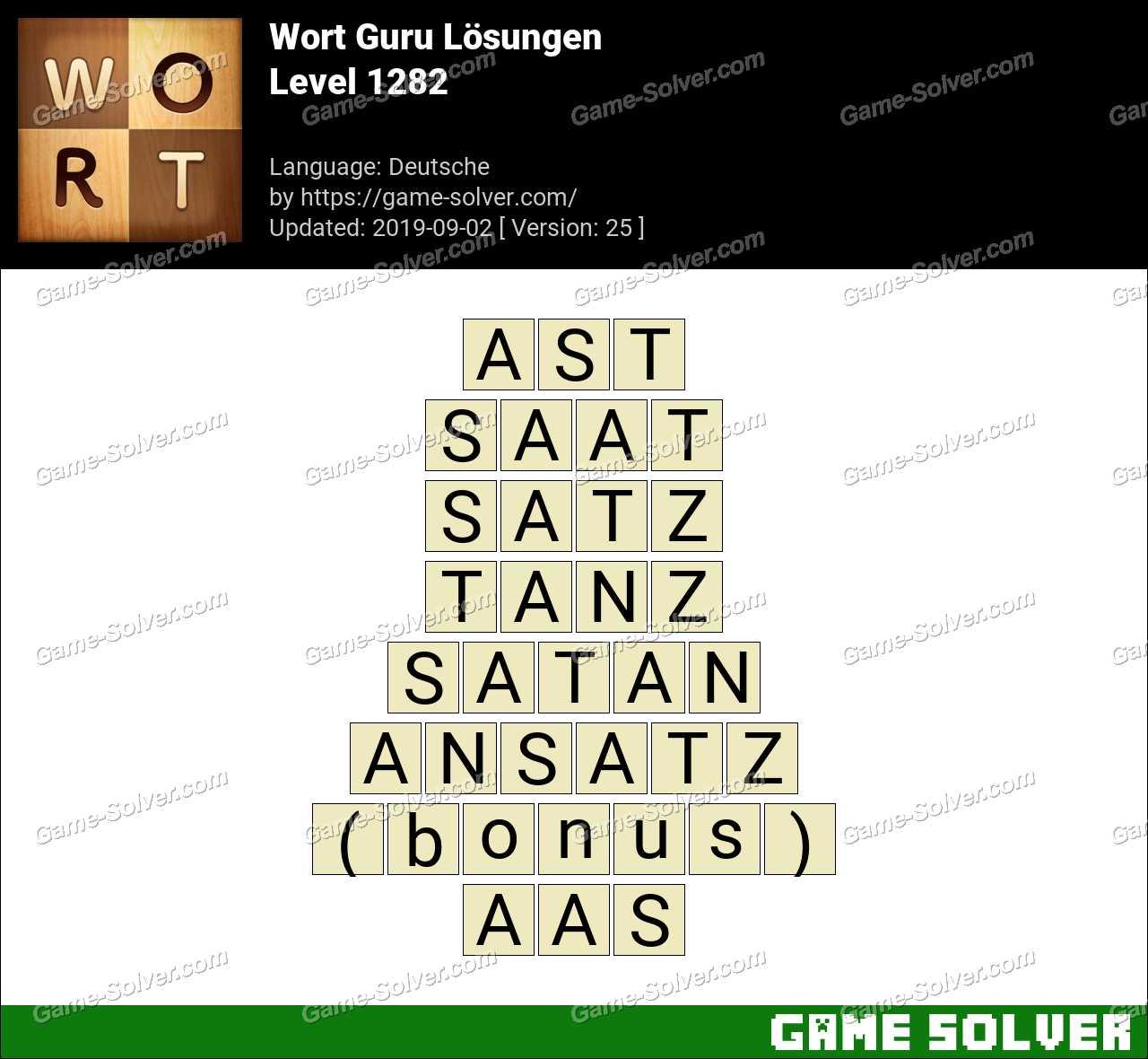 Wort Guru Level 1282 Lösungen