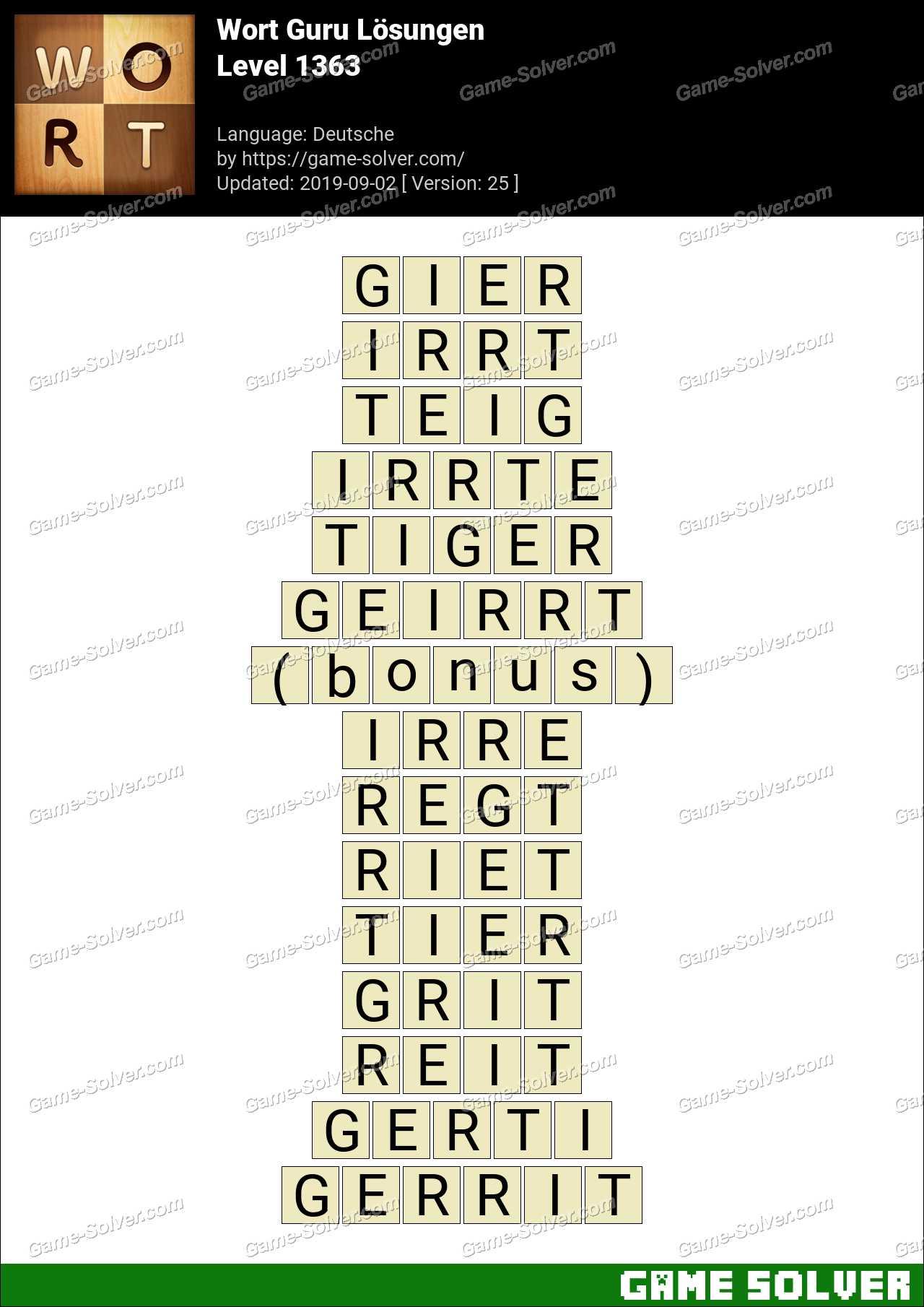 Wort Guru Level 1331