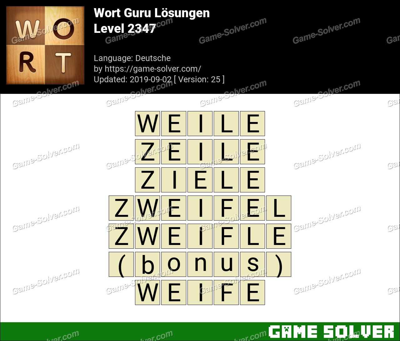 Wort Guru Level 2347 Lösungen