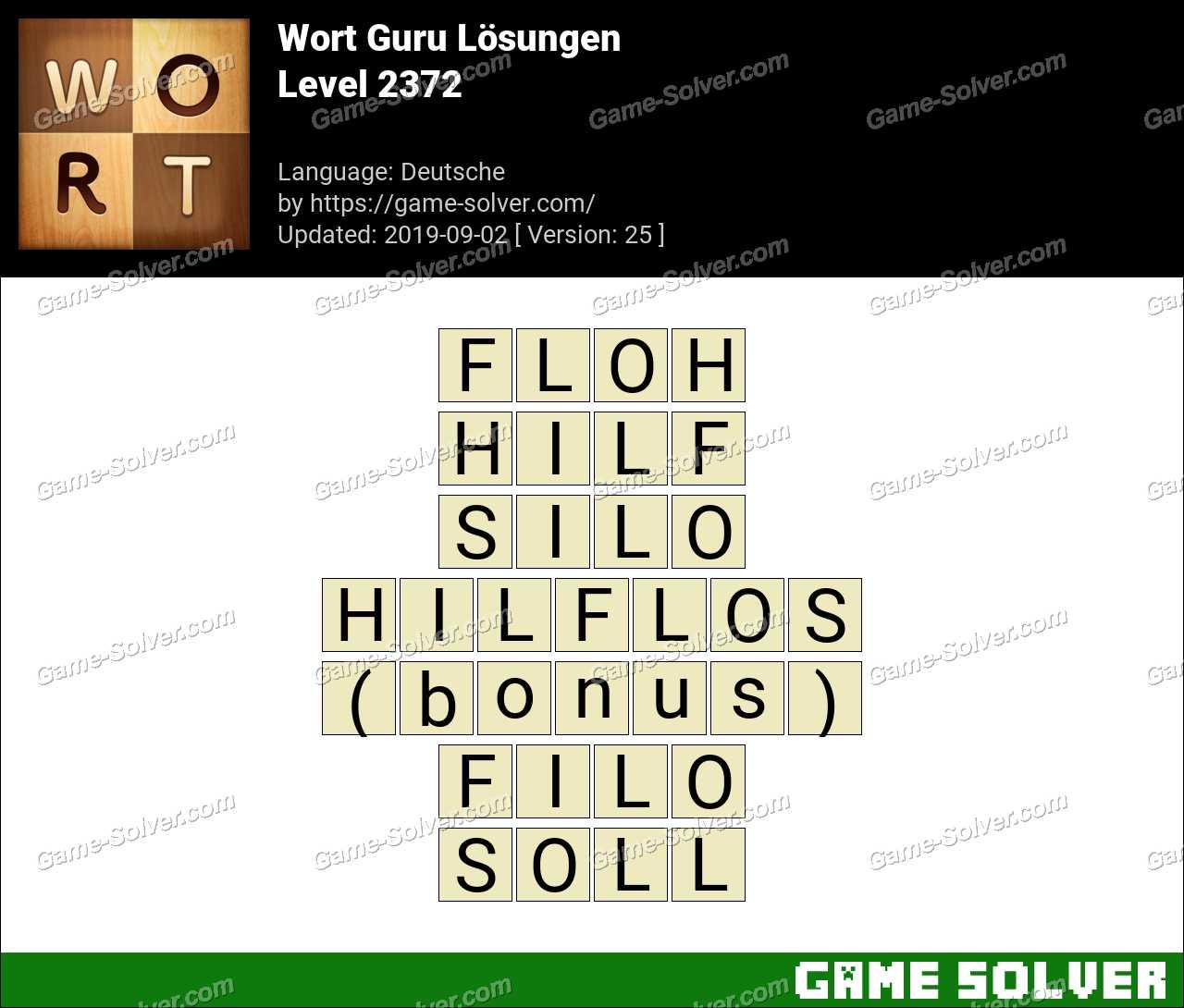 Wort Guru Level 2372 Lösungen