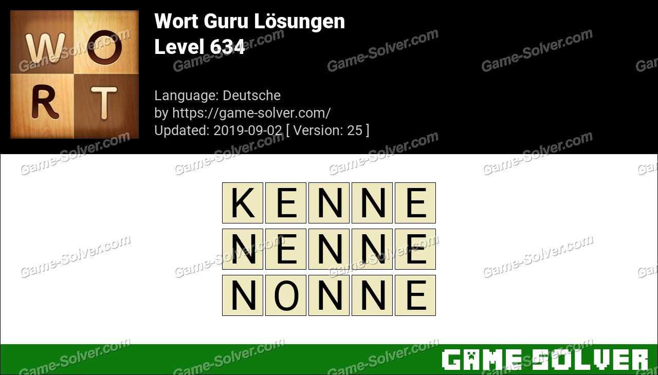 Wort Guru Level 634 Lösungen