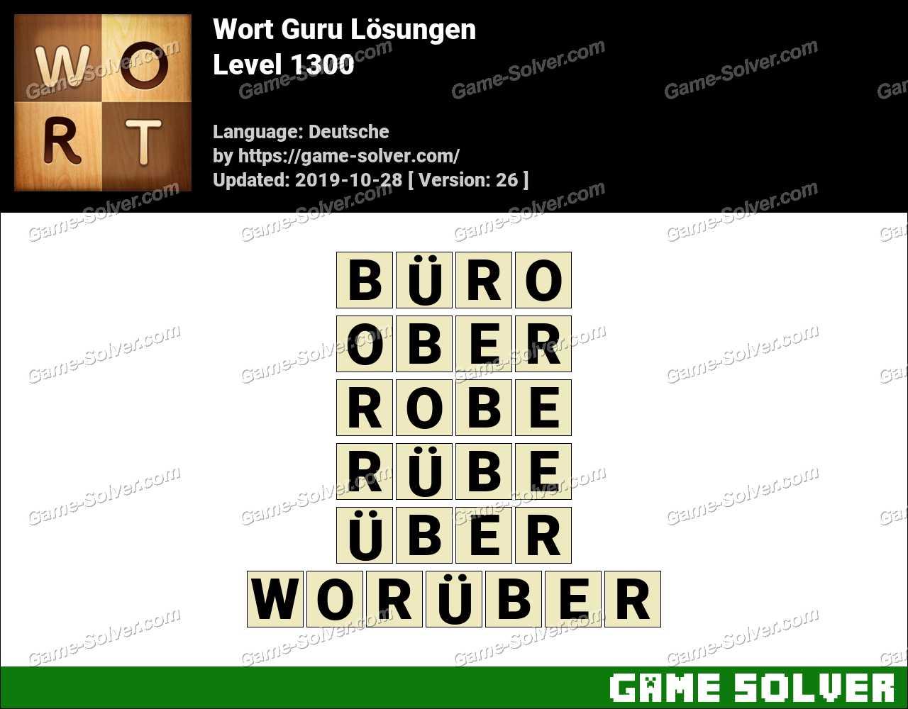 Wort Guru Level 1300 Lösungen