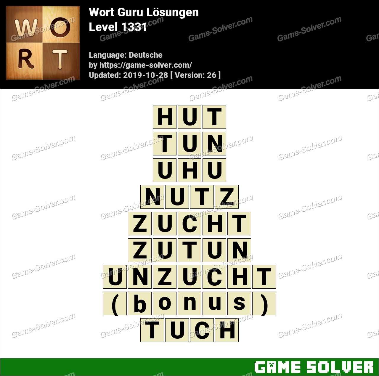 Wort Guru Level 1331 Lösungen