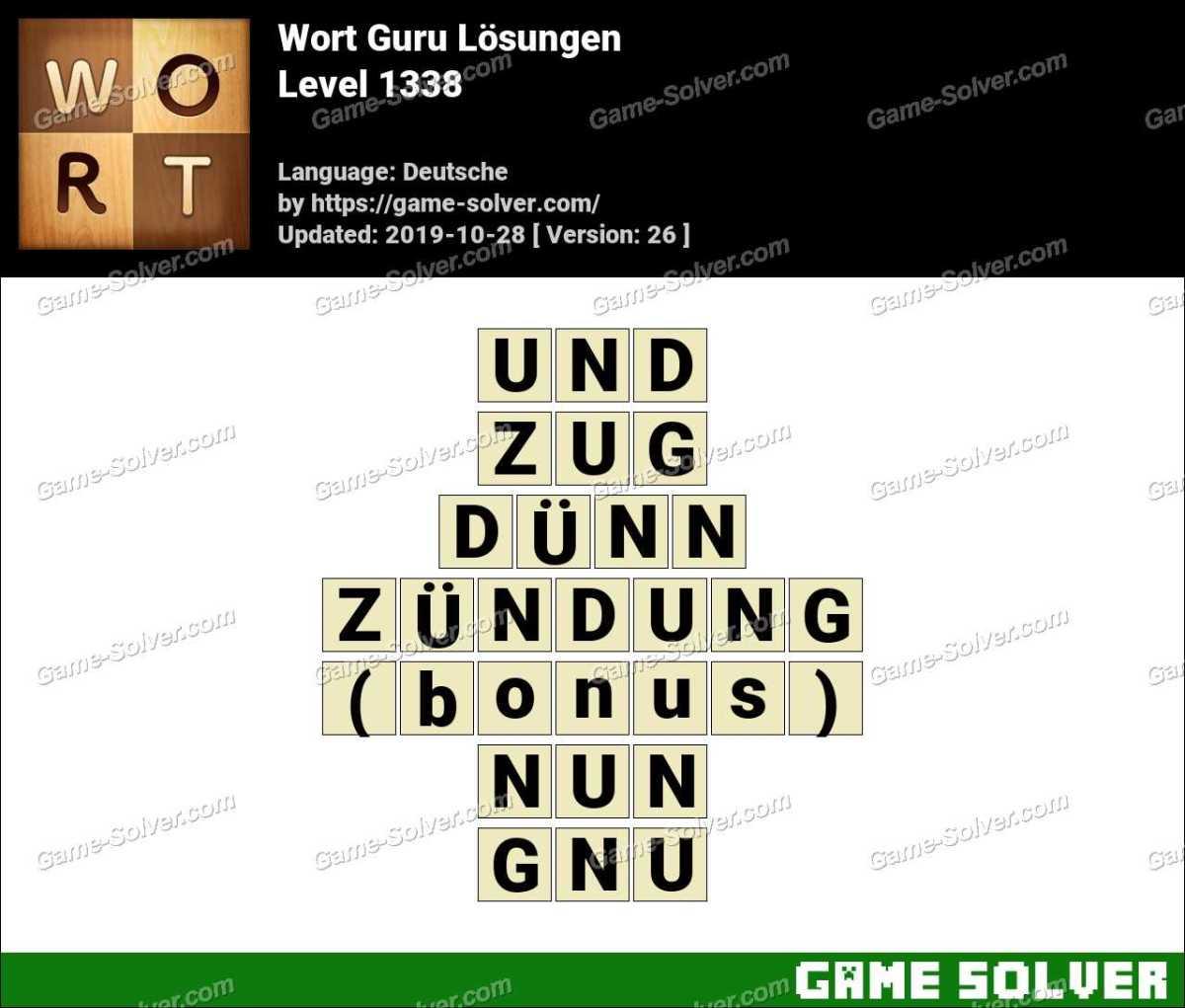 Wort Guru Level 1338 Lösungen