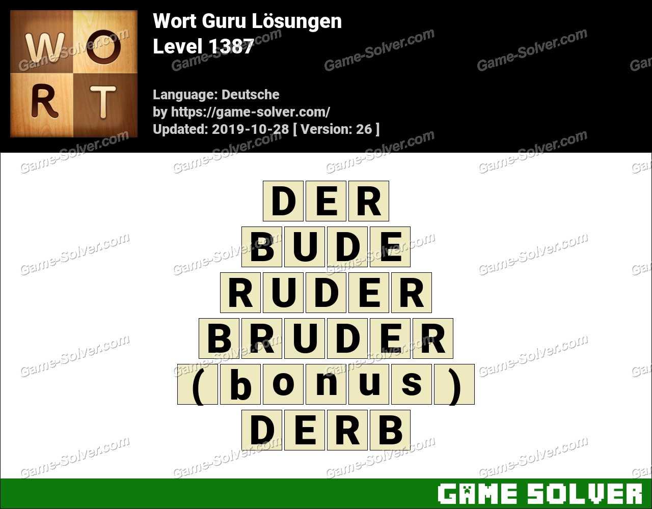 Wort Guru Level 1387 Lösungen