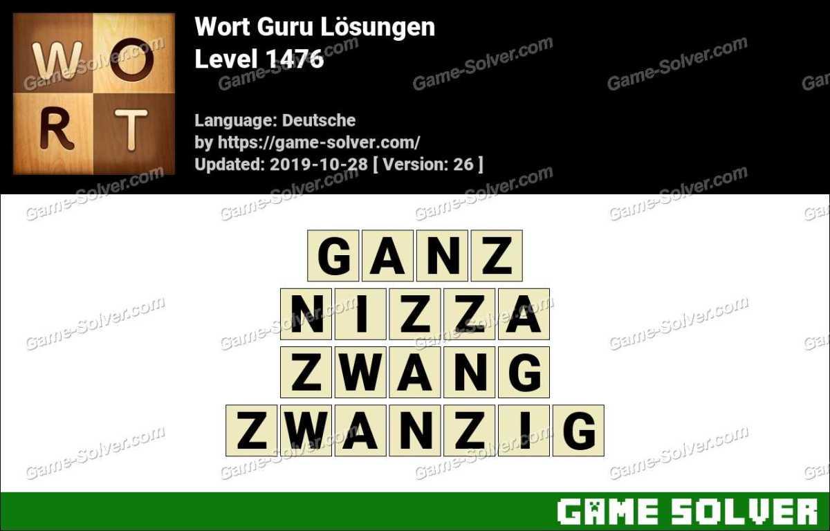 Wort Guru Level 1476 Lösungen