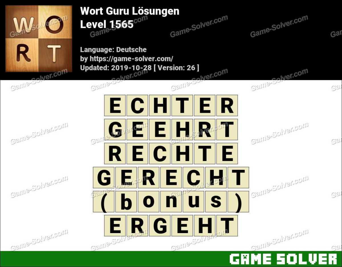 Wort Guru Level 1565 Lösungen