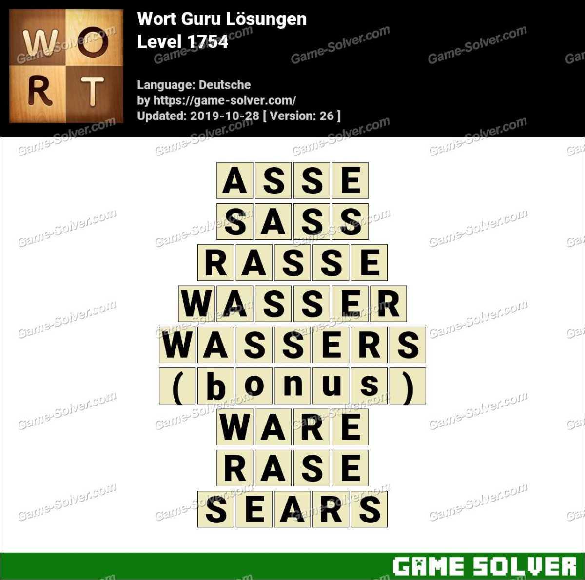 Wort Guru Level 1754 Lösungen
