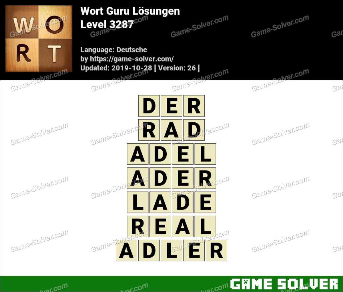 Wort Guru Level 3287 Lösungen