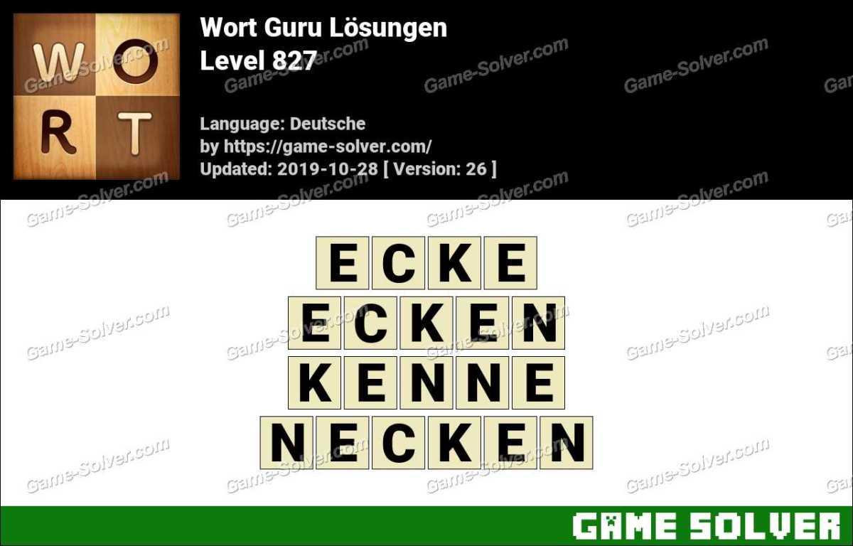 Wort Guru Level 827 Lösungen
