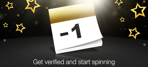Get verified and start spinning