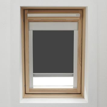 store enrouleur pour fenetre de toit avec cassette gamma 7004 gris 78x98 cm