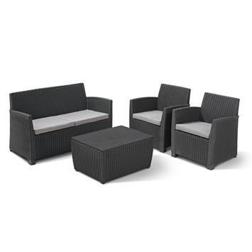 salon de jardin allibert corona avec box a coussins anthracite