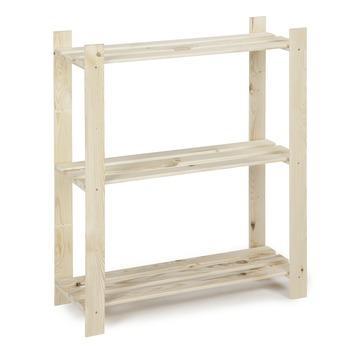 etagere bois simple 95x80x30 cm 3 tablettes 15kg