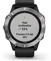 fēnix 6 con schermata delle metriche delle prestazioni