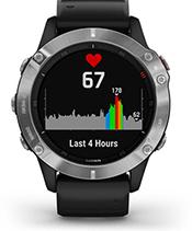 fēnix 6 con schermata della frequenza cardiaca