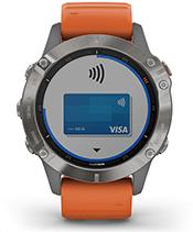 fēnix 6 Pro & Sapphire with Garmin Pay screen