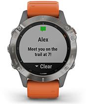 fēnix 6 Pro y Zafiro con la pantalla de notificaciones inteligentes