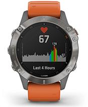 fēnix 6 Pro y Zafiro con la pantalla de frecuencia cardiaca