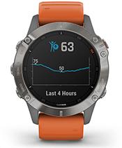 fēnix 6 Pro y Zafiro con la pantalla del monitor de energía Body Battery