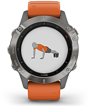 fēnix 6 Pro & Sapphire with animated workouts screen