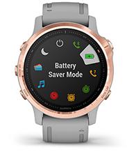 fēnix 6S Pro & Sapphire with battery screen