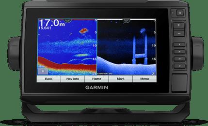 ECHOMAP UHD 75cv with transducer screen