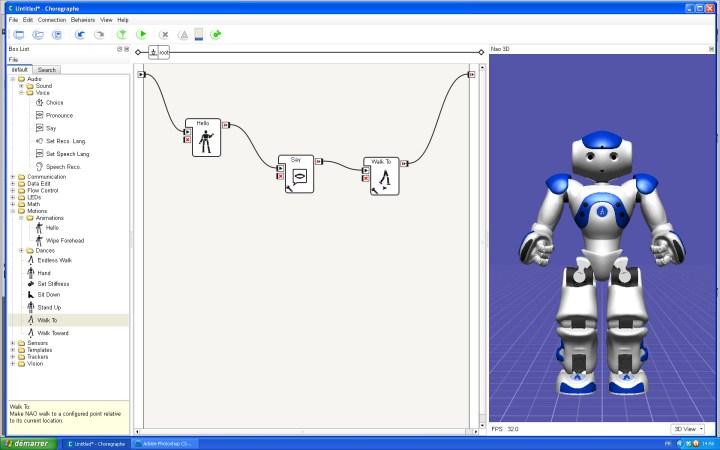 Robot humanoïde programmable Nao Evolution