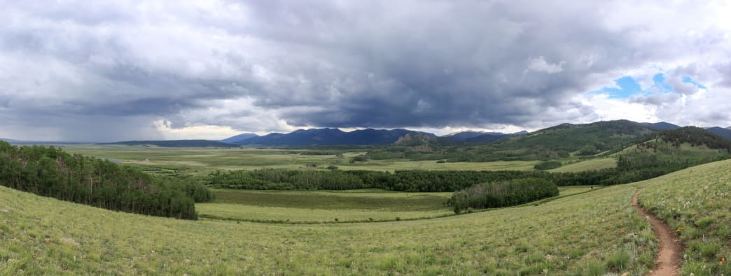 A microcosm of summer weather in Colorado.      Richard Forbes