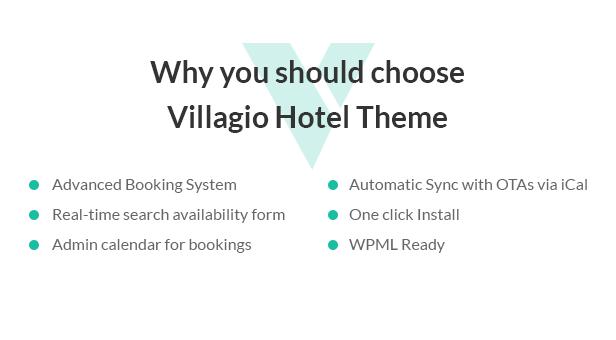 Vacation Rental WordPress Theme - Villagio - 1