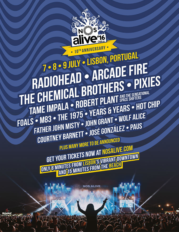 Nos Alive: 7-9 July, Lisbon, Portugal
