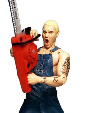 Image result for eminem chainsaw