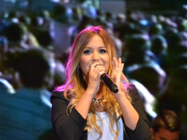 A cantora de cumbia Karina