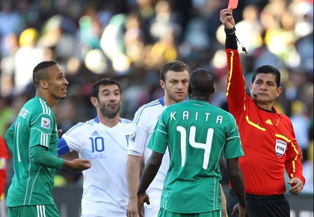 Image result for keita red card vs greece