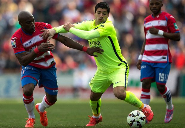 Granada 1-3 Barcelona: Messi, Suarez and Rakitic fire visitors to victory