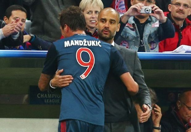 Image result for pep and mandzukic
