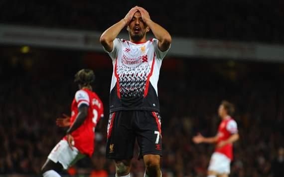 Luis Suarez Arsenal v Liverpool Premier League 02112013