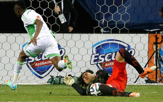 Ahmed Musa and Guillermo Ochoa Mexico Nigeria 030514