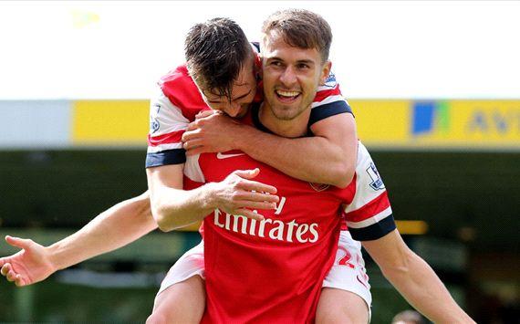 Aaron Ramsey Norwich City Arsenal English Premier League 05112014