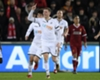 Alfie Mawson celebrates his goal for Swansea City against Liverpool