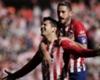 Alvaro Morata celebrates his goal against Villarreal with Saul Niguez