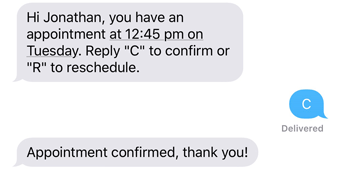 I genuinely appreciate a prompt confirmation from your side. The Best Way To Confirm Appointments Goreminders