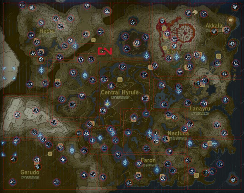 Zelda Botw Shrine Locations Map Find Complete All 120