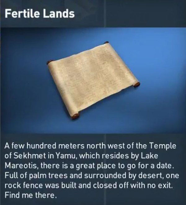 AC Origins Fertile Lands Papyrus Puzzle Guide