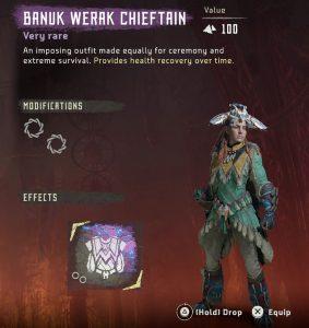 HZD Frozen Wilds DLC Banuk Werak Chieftain Outfit