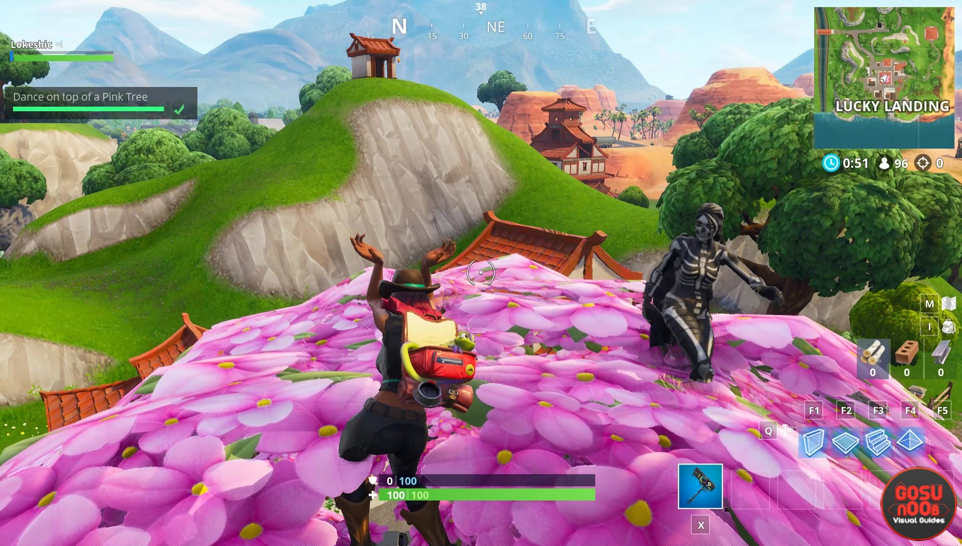 Dance On Top Of Clock Tower Pink Tree Porcelain Throne Fortnite