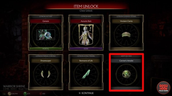 MK11 Krypt Cetrion's Amulet Location - Kytinn Hive Puzzle ...
